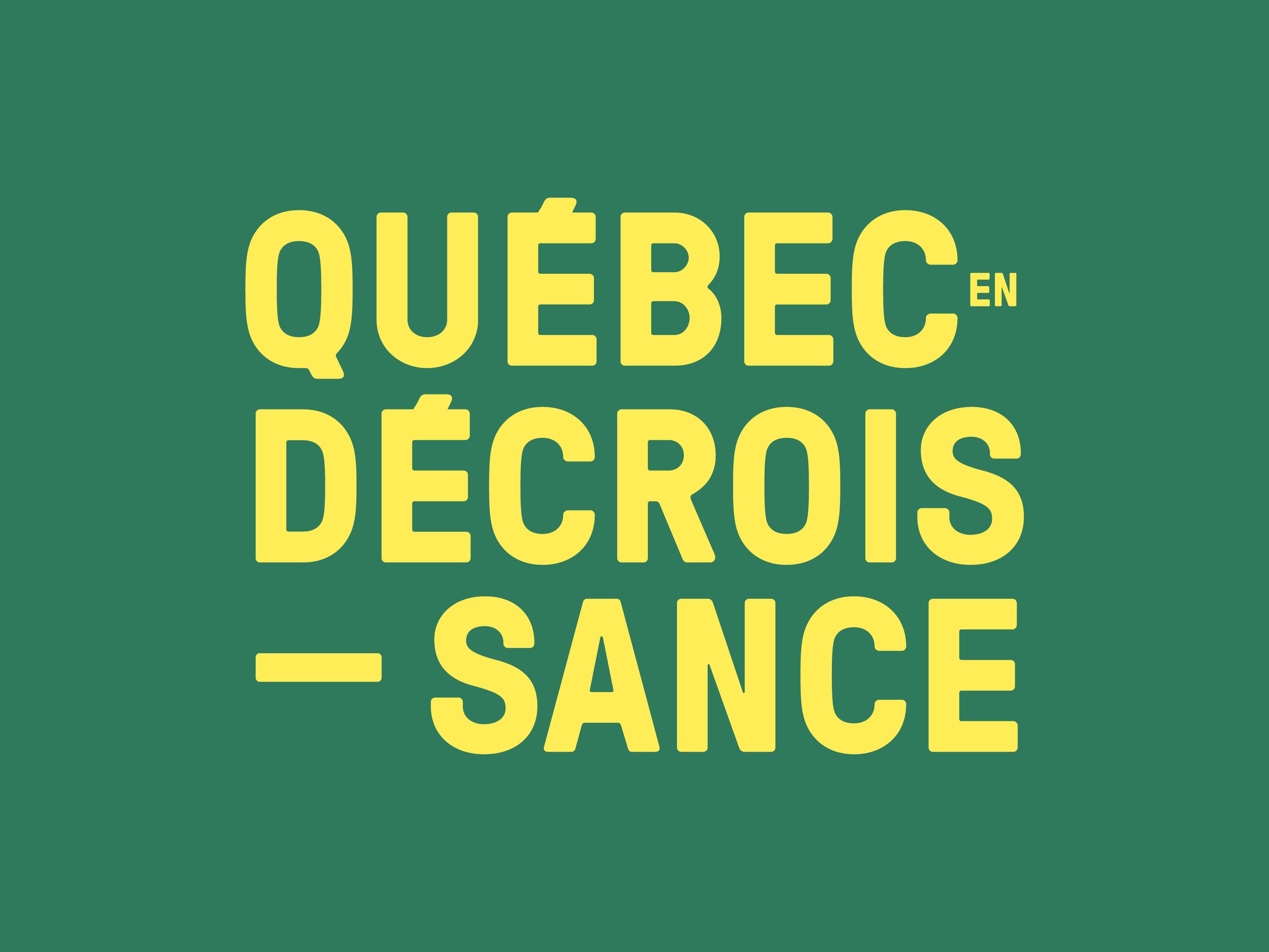 Québec en décroissance
